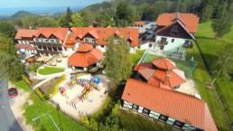 Hotel Artus z lotu ptaka Karpacz